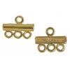 Gold-plated Coupling Bar 3 Strand Base SS.925